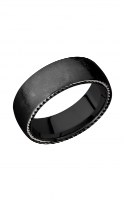 Lashbrook Zirconium Wedding band Z8DSIDEBRAID SS product image