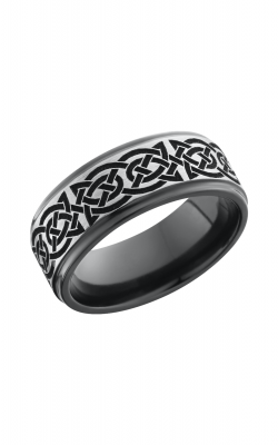 Lashbrook Zirconium Wedding band Z8FGE BLCVCELTIC10 SILVER product image