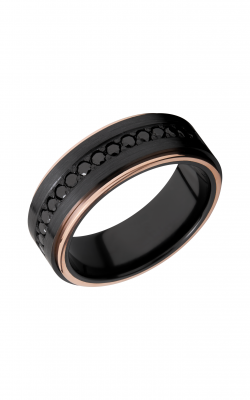 Lashbrook Zirconium Wedding band Z8FGE21EDGE 14KRBLKDIA16X product image