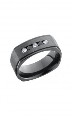 Lashbrook Zirconium Wedding band Z8FGESQDIA3X 05BLKDIA2X product image