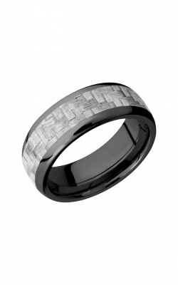Lashbrook Carbon Fiber Wedding band ZC8D15 SILVERCF product image