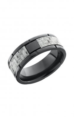 Lashbrook Carbon Fiber Wedding band ZC8F4SEG SILVERCF product image