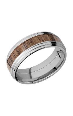 Lashbrook Cobalt Chrome Wedding band CC8F2S14 WALNUT product image