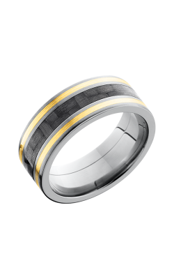 Lashbrook Carbon Fiber Wedding band C8F1321 CF14KY product image