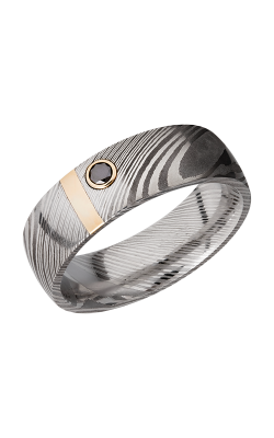Lashbrook Damascus Steel Wedding band D7D12VERT 14KYBLKDIA.10MB product image