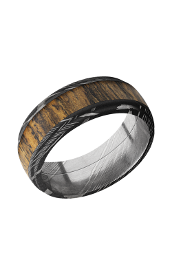 Lashbrook Damascus Steel Wedding band D8DGE15 BOCOTE product image