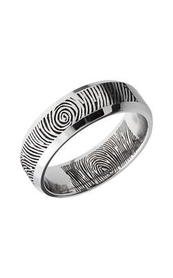 Lashbrook Cobalt Chrome Wedding band CC7B LCVFINGERPRINT product image