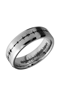 Lashbrook Cobalt Chrome Wedding band CC7B LCVSOUNDWAVE product image