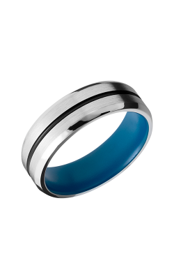 Lashbrook Cobalt Chrome Wedding band CC7B11-NS A BLACKOUT SKYBLUEIN product image