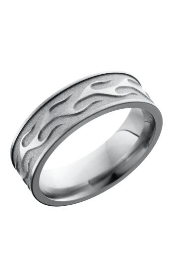Lashbrook Titanium Wedding band 7FCONTOURFLAME product image