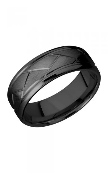 Lashbrook Zirconium Wedding band Z8BFLATTWEAVE product image