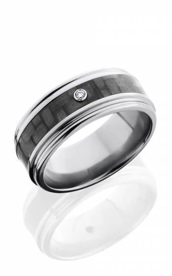 Lashbrook Carbon Fiber Wedding band C9REF14 CFDIA.03B POLISH product image