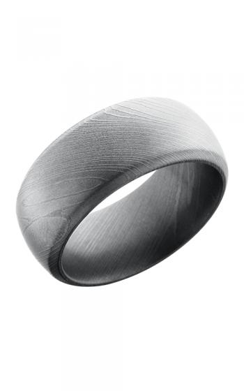 Lashbrook Damascus Steel Wedding band D10DB BEADBLAST product image