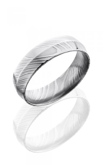 Lashbrook Damascus Steel Wedding band D6P POLISH product image