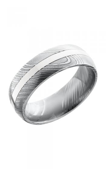 Lashbrook Damascus Steel Wedding band D8D12-14KW POLISH product image