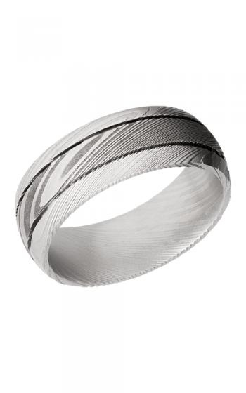 Lashbrook Damascus Steel Wedding band D8D2.5 ACID-BEAD product image