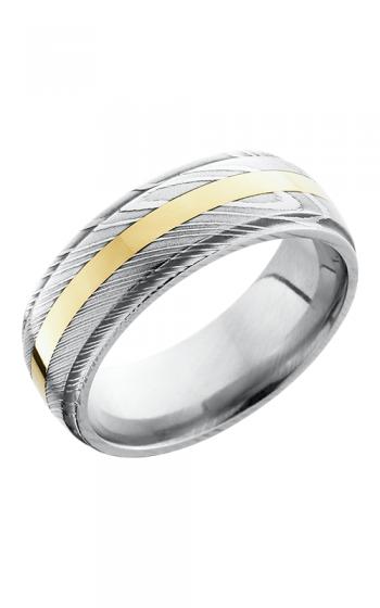 Lashbrook Damascus Steel Wedding band D8DGE12-14KY POLISH product image