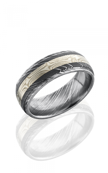 Lashbrook Damascus Steel Wedding band D8DGE13-MSSPD product image