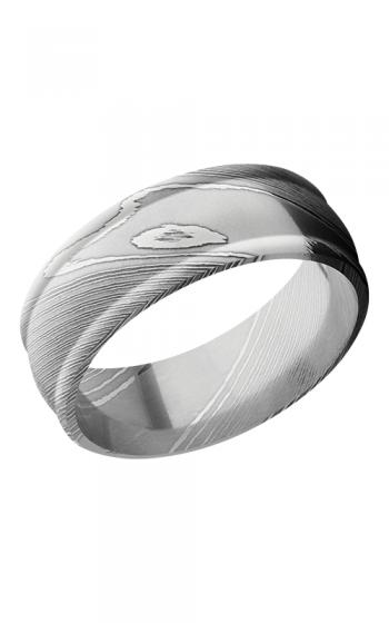 Lashbrook Damascus Steel Wedding band D8RED POLISH product image