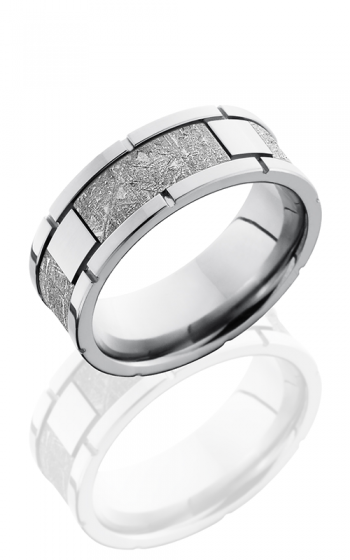 Lashbrook Meteorite Wedding band CC8F4SEG-METEORITE POLISH product image
