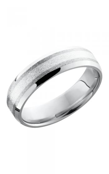 Lashbrook Cobalt Chrome Wedding band CC6B12-SS NS STONE-POLISH product image