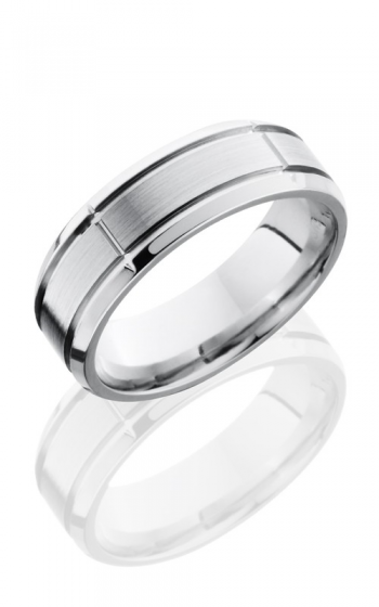 Lashbrook Cobalt Chrome Wedding band CC7B5SEG2.75 SATIN-POLISH product image