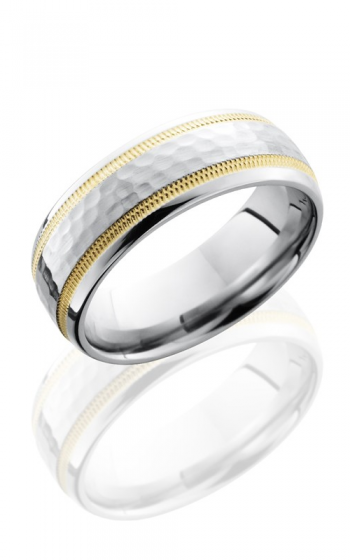 Lashbrook Cobalt Chrome Wedding band CC7D21W-14KYMIL HAMMER-POLISH product image