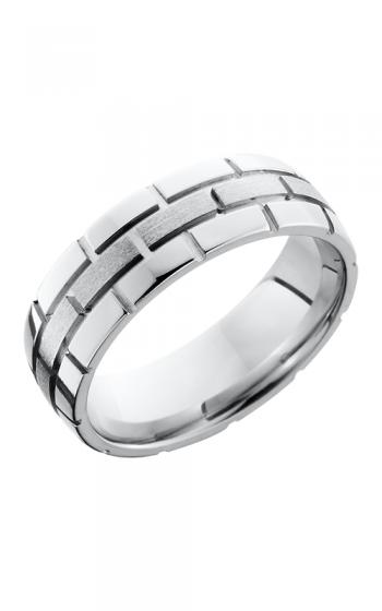 Lashbrook Cobalt Chrome Wedding band CC7DBRICK STONE-POLISH product image