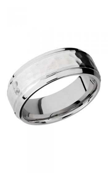 Lashbrook Cobalt Chrome Wedding band CC8B14-SS HAMMER-POLISH product image