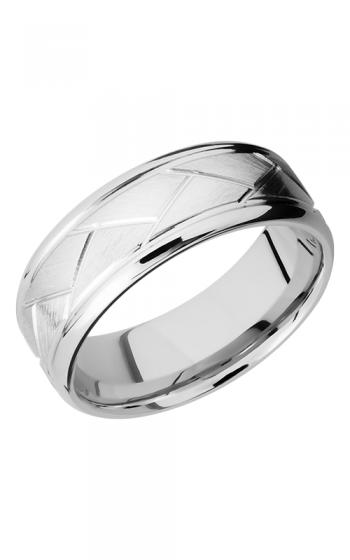 Lashbrook Cobalt Chrome Wedding band CC8BFLATWEAVE SATIN-POLISH product image
