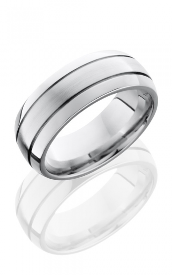 Lashbrook Cobalt Chrome Wedding band CC8D2.5 SATIN-POLISH product image