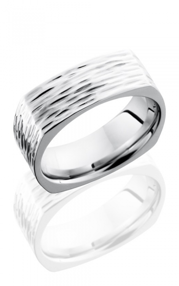 Lashbrook Cobalt Chrome Wedding band CC8FSQ TREEBARK 3 product image