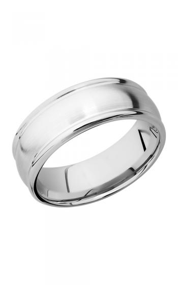 Lashbrook Cobalt Chrome Wedding band CC8RED SATIN-POLISH product image