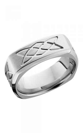 Lashbrook Cobalt Chrome Wedding band CC9BSQLOVERSKNOT SATIN-POLISH product image