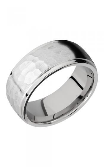Lashbrook Cobalt Chrome Wedding band CC9DGE HAMMER-POLISH product image