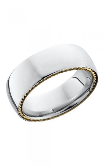 Lashbrook Cobalt Chrome Wedding band CC8DSIDEBRAID 14KY POLISH product image