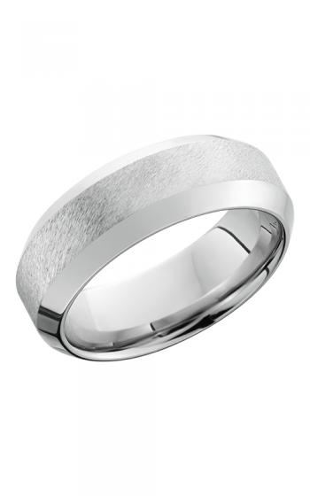 Lashbrook Cobalt Chrome Wedding band CC8WHB ANGLE STONE POLISH product image