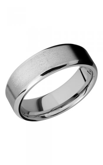 Lashbrook Cobalt Chrome Wedding band CC7B STONE POLISH product image