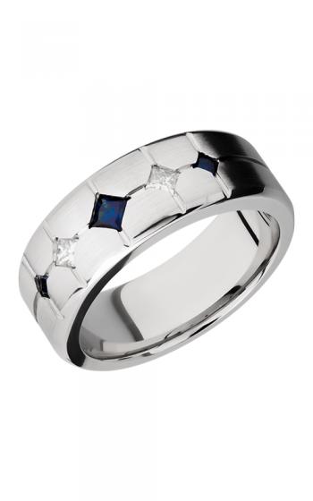 Lashbrook Cobalt Chrome Wedding band CC8B3XSAPPHIRE2XDIA product image