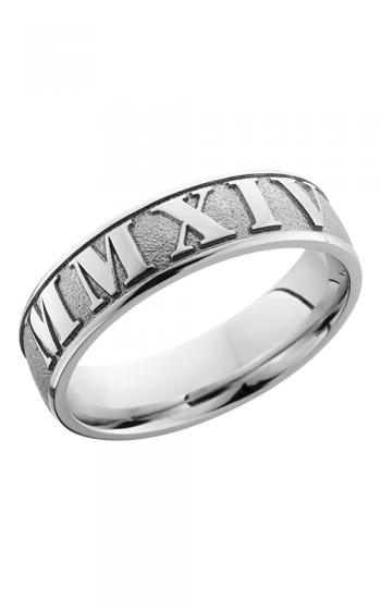 Lashbrook Cobalt Chrome Wedding band CC6D LCVROMMANNUMERAL2 product image