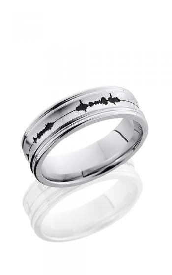 Lashbrook Cobalt Chrome Wedding band CC7REC LCVSOUNDWAVE product image
