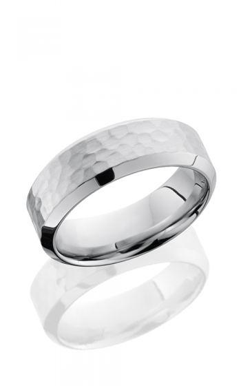 Lashbrook Cobalt Chrome Wedding band CC8HB HAMMER-POLISH product image