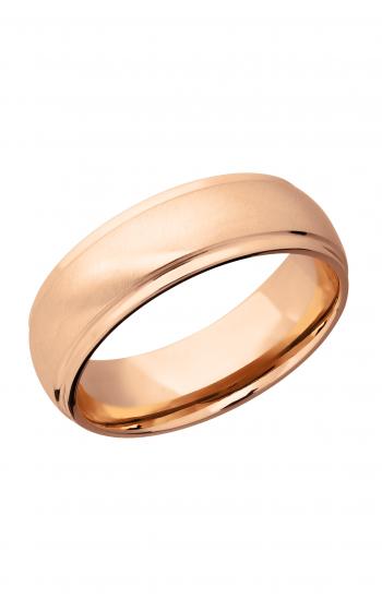 Lashbrook Precious Metals Wedding band 14KR7DGE-P ANGLE product image