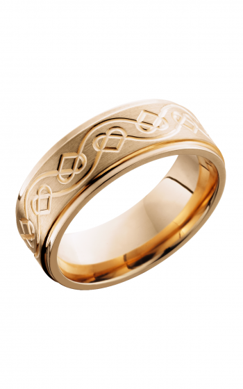 Lashbrook Precious Metals Wedding band 14KR8FGECELTICHEART product image