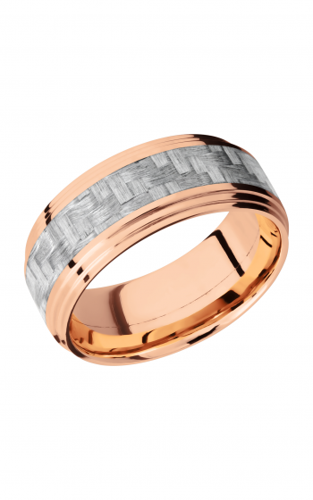 Lashbrook Carbon Fiber Wedding band 14KRC9F2S14_SILVERCF product image