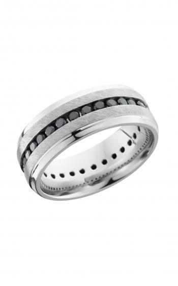 Lashbrook Titanium Wedding band 8B S ETERNITYBLKDIA 04CH product image