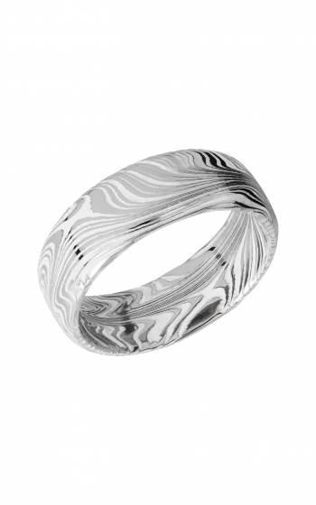 Lashbrook Damascus Steel Wedding band D8DBMARBLE_WHITEALL product image