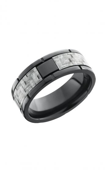 Lashbrook Carbon Fiber Wedding band ZC8F4SEG_SILVERCF product image