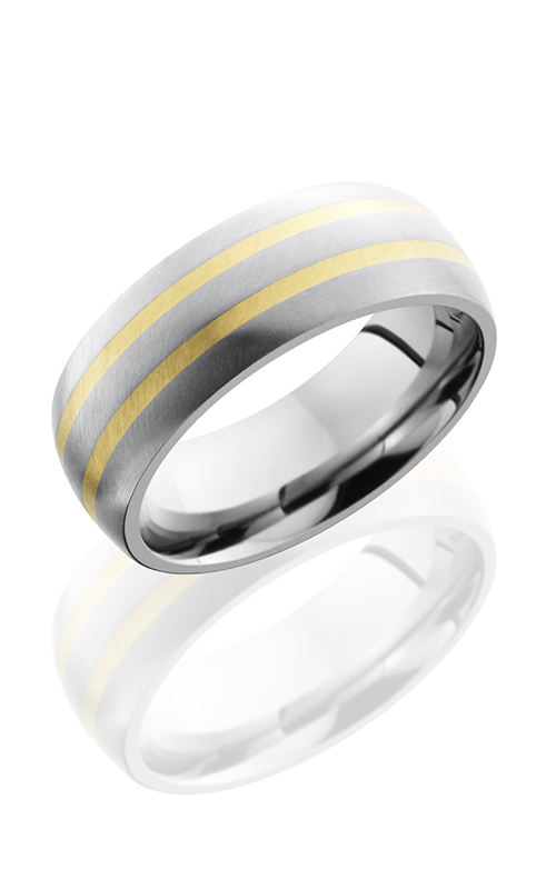 Lashbrook Titanium Wedding band 8D21 14KY product image