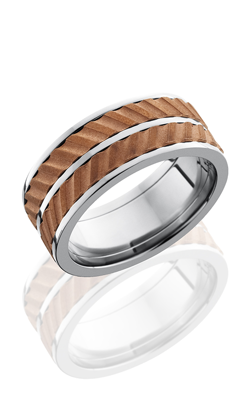 Lashbrook Titanium Wedding band 9F DUALHELICAL COPPER SPINNER product image